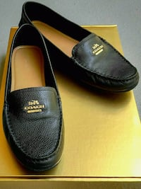 Coach Opal Black Leather Flats Burnaby, V5A