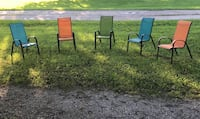 5 stackable lawn chairs  Frankfort, 40601