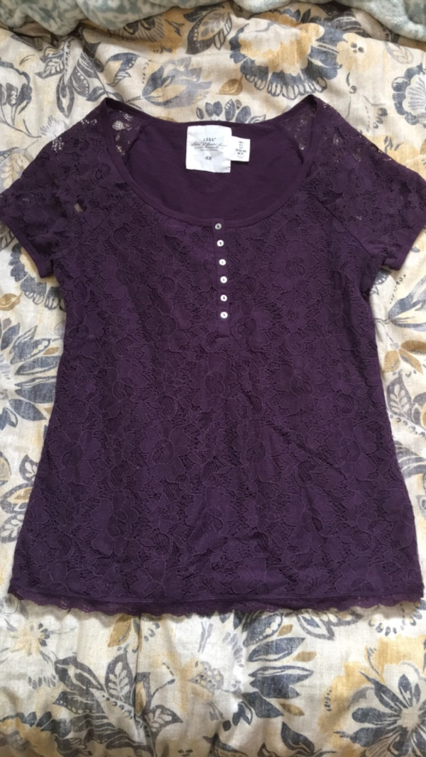 Purple lace top from H&M