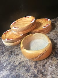 Coasters and dish
