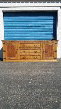 LARGE RUSTIC BUFFET CONSOLE