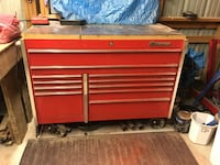 Red Snap-on tool chest Penn, 17545