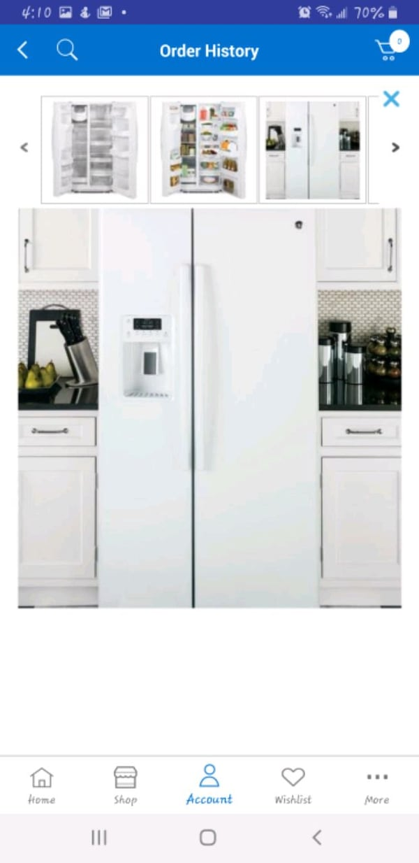 GE 25.4 Cu. Ft. Side-by-side Refrigerator in White b10543ee-6466-425e-ae2e-9ed10d8fa259
