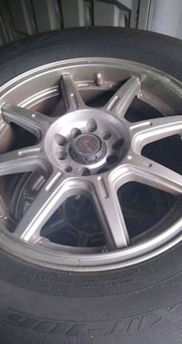 8 inch chrome wheels with tires