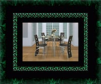 Counter height glass dining table with 4 chairs Gaithersburg