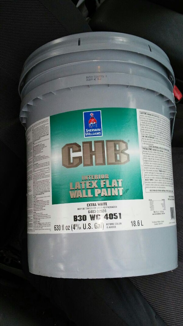 5 Gallon C H B Latex Paint