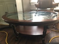 oval brown wooden coffee table Pitman, 08071