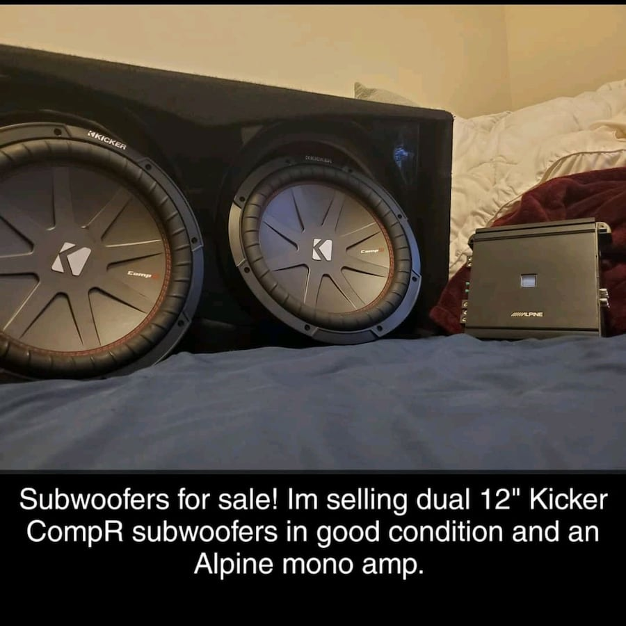 12 inch Subwoofers+AMP