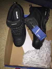Pair of steal toe black boots Baltimore, 21217