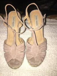 pair of brown leather open toe ankle strap heels Phoenix, 85031