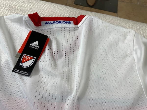 Toronto FC Soccer Jersey, Adidas Climacool,MEDIUM, new with tags, receipt 1