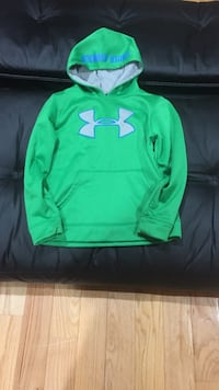 Green Under Armour pullover hoodie