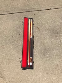 red and black cue stick with case  Murrysville, 15632
