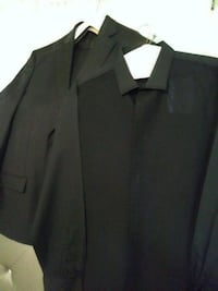 Black suit and shirt. Only worn once.  Harper Woods, 48225