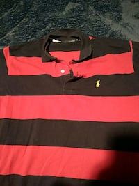 black and red Ralph Lauren polo shirt Pitt Meadows, V3Y 2N8