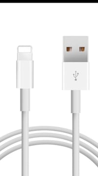 white Apple lightning to USB cable Mission Viejo, 92692