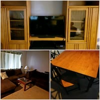 Entertainment center Sectional Couch Dinning table Modesto