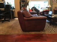 brown suede sofa chair with ottoman Burien, 98148