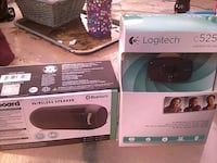two black and white wireless speakers Visalia, 93291