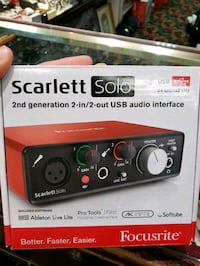 Focusrite Scarlett-Solo Gen2 USB Audio Interface w Toronto