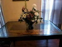 Wooden glass table only Stone Mountain, 30088
