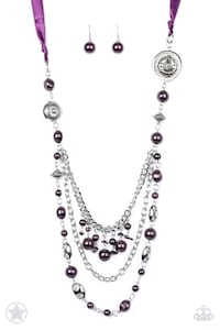 Purple  necklace with earrings Salinas, 93905