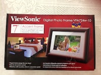 "Brand new in the box never been used view sonic digital photo frame VFA 724w-10 7"" contents digital photo frame,power adapter,user guide,quick start guide. It will be a beautiful gift for all occasions  Regular $80 asking $40 firm price Hamilton, L8V 4K6"