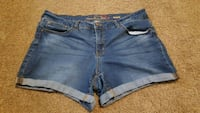 women's blue denim short shorts New Holland, 17557