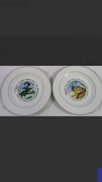 Two Alice In the Wonderland/ Winterland Plates featuring the Mad Hatter and Cheshire Cat.  Orlando, 32821