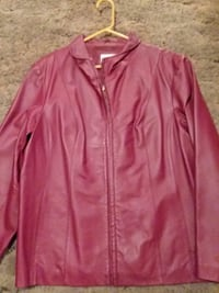 Women's Red Leather Jacket