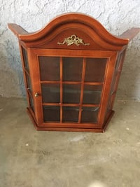Wall Mount Curio Cabinet with glass shelves Stevenson Ranch, 91381