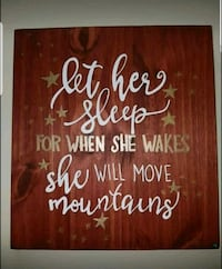 """Hand Painted"" Wood Sign -  Let Her Sleep"