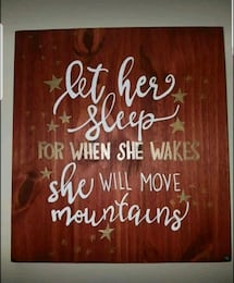 """""""Hand Painted"""" Wood Sign -  Let Her Sleep"""
