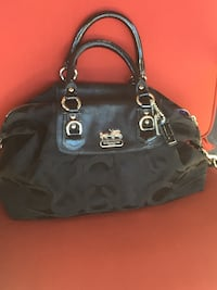Black coach monogram tote bag