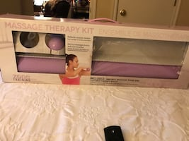 Massage therapy kit it has mat but one ball missing