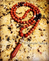 red and black beaded necklace Los Angeles, 91403