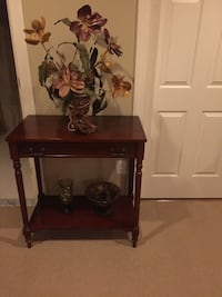 Solid cherry wood single drawer console table Ashburn, 20147