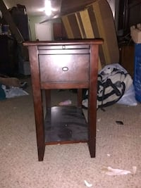 brown wooden single-drawer end table Houston, 77041