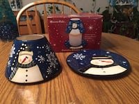 Snowman Candle Shade & Plate