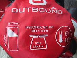 OUTBOUND CAMPING SLEEPING BAGS