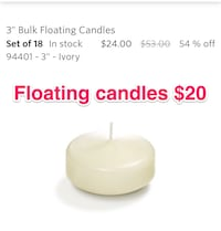 Ivory floating candles, brand new Toronto, M8Y 0A1