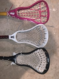 2 boys lacrosse sticks, 1 girls lacrosse stick, $20 each Jarrettsville, 21084