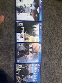 three Sony PS4 game cases Barrie, L4N