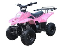 black and pink ATV kids size 110cc  Grand Prairie, 75050