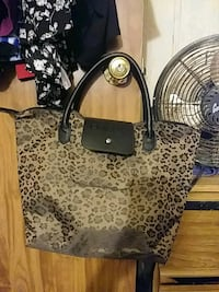 brown and black leopard print leather tote bag Athens, 30607
