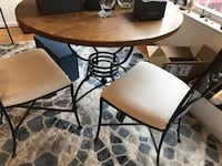 Wood & Iron Table & 5 Chairs 20176
