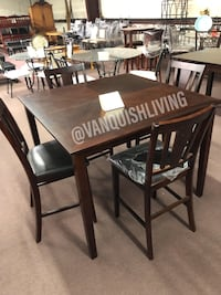 New 5 PC Espresso Dining Table Set 4 Chairs 1 Table Houston, 77092
