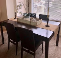 Rectangular brown wooden table with chairs Camarillo, 93012