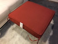 square red fabric ottoman ROCKVILLE