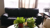 Black Leather Couch BRISTOW